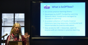 Jean Gordon launching ScOPTbox at the ScOPT conference on 12 November 2015